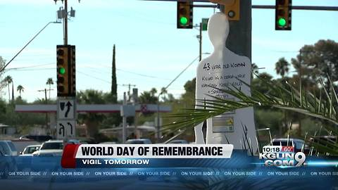 Remembering traffic crash victims by raising awareness and calling for action