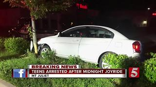 4 Teens Arrested After Leading Police On Chase During Joyride - Video