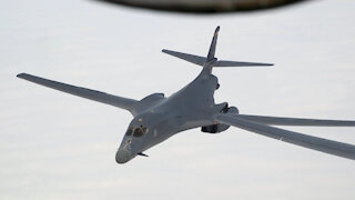 short 91st Air Refueling Squadron supports Super Bowl flyover