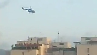Helicopter Circles Over Caracas Supreme Court - Video