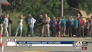 Community honoring fallen police officer - Video