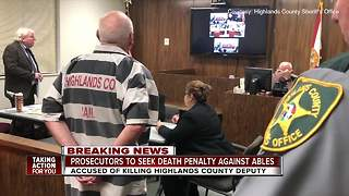 State to seek death penalty against man accused of fatally shooting Highlands County Deputy - Video