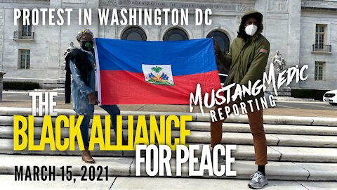 The Black Alliance For Peace Protest in Washington DC March 15, 2021 MustangMedic Reporting