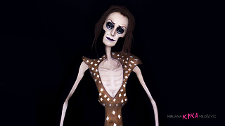 Body painting illusion of CORALINE'S OTHER MOTHER - Video