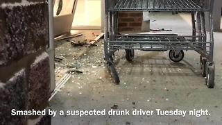 Man Charged After Crashing Into Businesses - Video