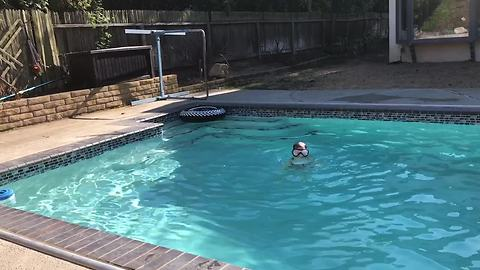 Kid has clever strategy for extra pool time