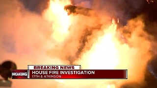 Firefighters battle house fire on Milwaukee's north side