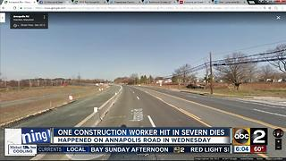 Construction worker dies after being struck by car Wednesday night - Video