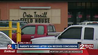 Parents worried after son receives concussion - Video