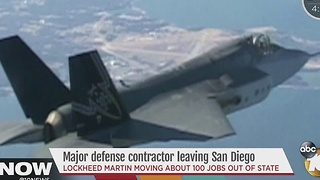 Lockheed Martin plans to leave San Diego, headed to CO