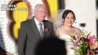 Vegas bride gives away huge part of her ceremony to October 1 shooting victims - Video