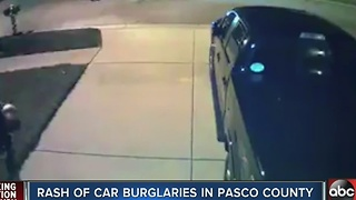 Rash of car burglaries in Pasco County - Video
