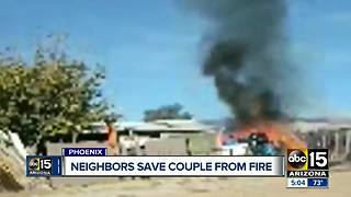 Valley community rushes to save neighbor from fire