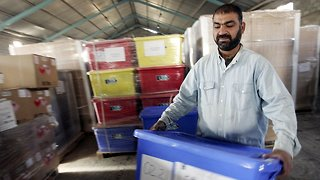 Baghdad Warehouse Storing Ballot Boxes From May Election Catches Fire - Video
