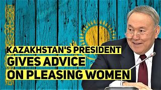Kazakhstan President's ultra sexist rant: Women react! - Video