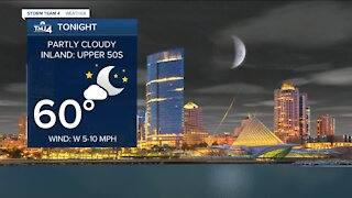 Temperatures in the upper 50s, lower 60s expected Tuesday night