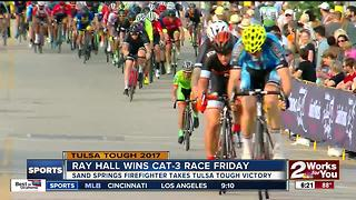 Sand Springs Firefighter Ray Hall wins Cat-3 race at Tulsa Tough - Video