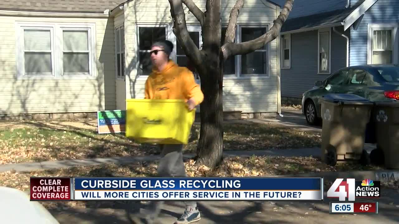 Curbside glass recycling