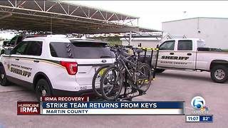 Martin County Rapid Response Team returns from Florida Keys after assisting in Hurricane Irma recovery efforts - Video