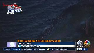Chopper 5 spots crashed boat on Lake Okeechobee possibly connected to missing fisherman