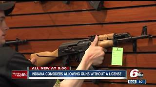 Indiana considers allowing guns without a license - Video