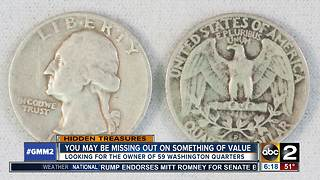 Looking for owner of 59 Washington quarters - Video