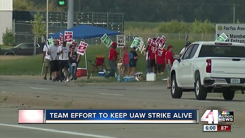 UAW members battle heat, other issues during strike