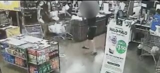 Man caught on camera assaulting Island Pacific Supermarket employees