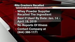 Ritz Cracker Products recalled