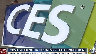 CCSD students presenting business pitches at CES - Video