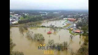 Drone Footage Reveals Widespread Flooding in Central Tennessee