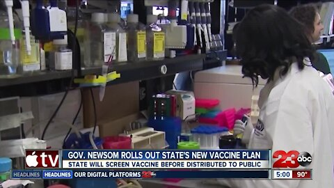 Newsom announced California's plan for COVID-19 vaccine distribution