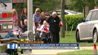 Gas leak prompts evacuations at assisted living facility in Seminole, gas line repaired - Video
