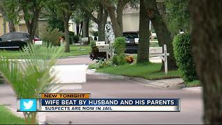 Wife beaten by husband and his parents - Video