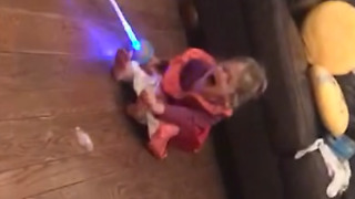 A Little Girl Gets Her Foot Run Over By A Power Wheels Car - Video