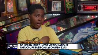 Grant Me Hope: 11-year-old Taevon likes LEGOs, dogs, and bike riding - Video