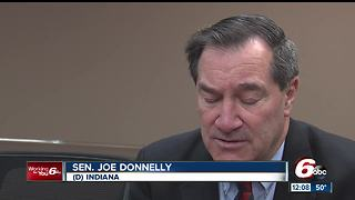 Indiana Senator Joe Donnelly says an ethics hearing is the right next move for Sen. Al Franken - Video