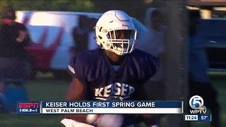 Keiser holds first ever Spring game - Video