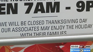 Stores split on opening for Thanksgiving - Video