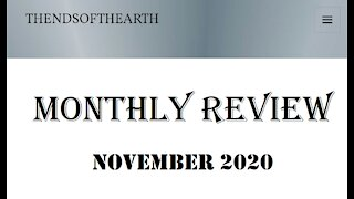 November 2020 Monthly Review pt 1...