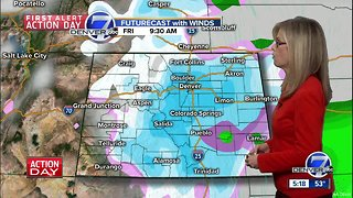 Near 60 degrees in Denver today, but snow tomorrow - Video