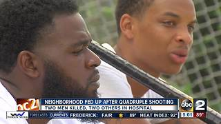 2 dead 2 hurt in quadruple shooting inNortheast Baltimore - Video