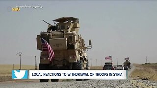 Local reactions to withdrawal of U.S. troops in Syria