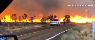 Cima Dome fire burning near Las vegas