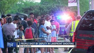 Two people shot by deputy by Lakefront remain hospitalized - Video
