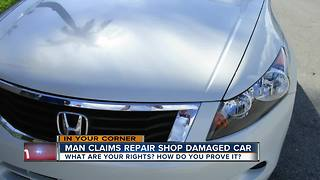 Man Claims Repair Shop Damaged Car - Video