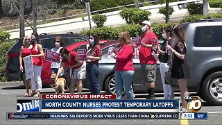 North County health care workers protest temporary layoffs