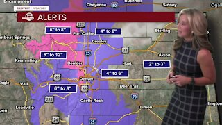 Winter storm warnings in effect for mountains as snow moves in to Colorado