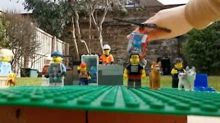 Family builds LEGO garden...with a twist!