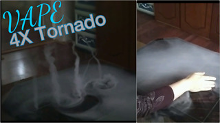 Incredible vape trick creates 4 mini tornadoes - Video